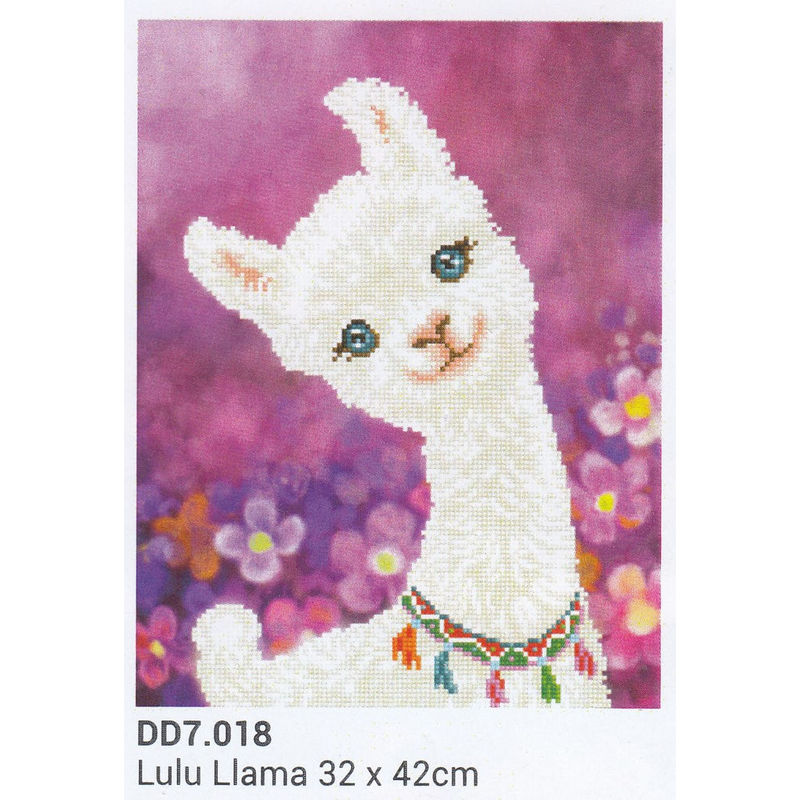 Diamond Dotz 5D Embroidery Facet Art Kit, LULU LLAMA, 32 x 42cm, Round Dots