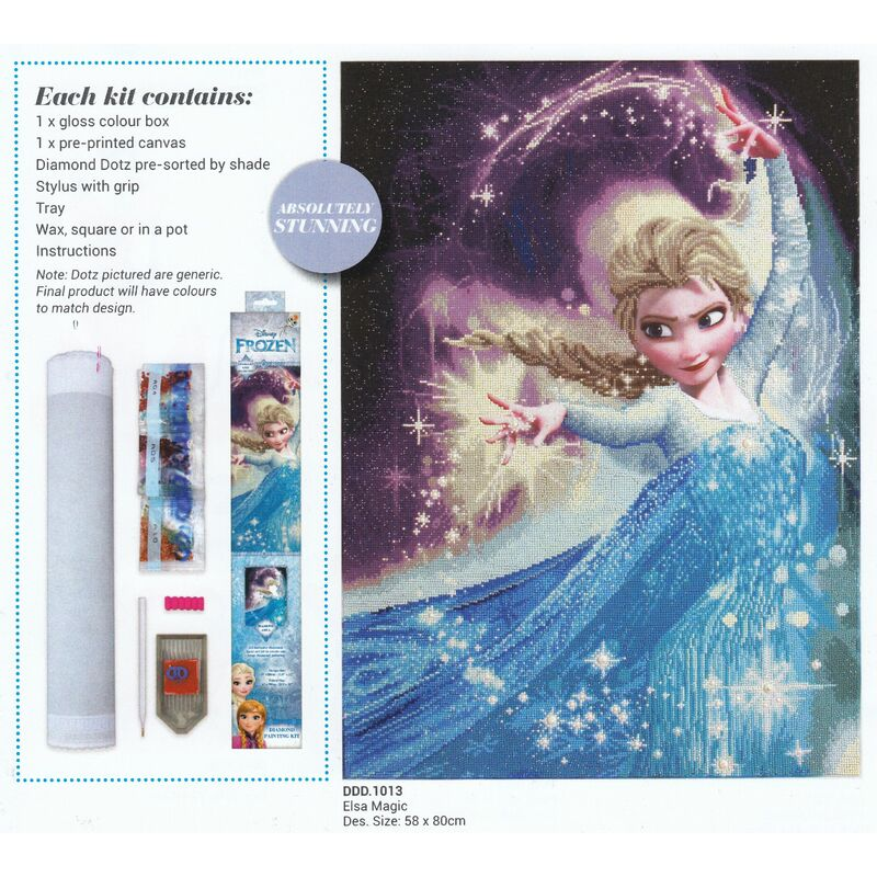 Diamond Dotz Disney 5D Embroidery Facet Art Kit, ELSA MAGIC, Round Dots DDD.1013