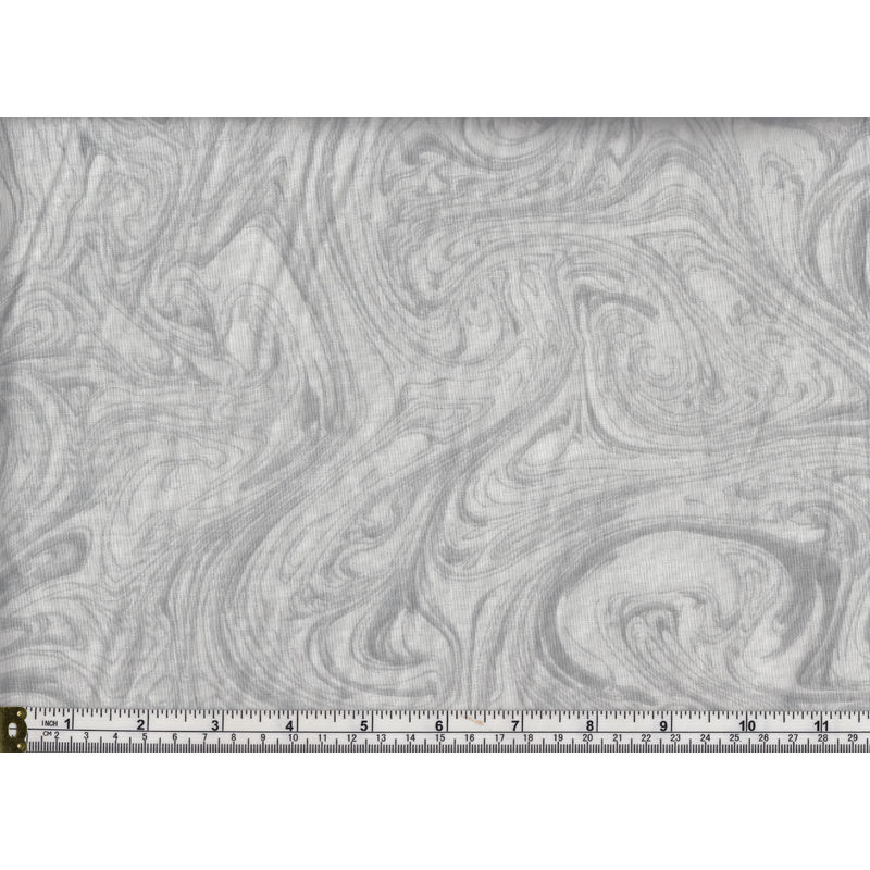 Triple S Marble Print 100% Cotton Quilt Backing Fabric, 260cm Wide Per Metre, LIGHT GREY
