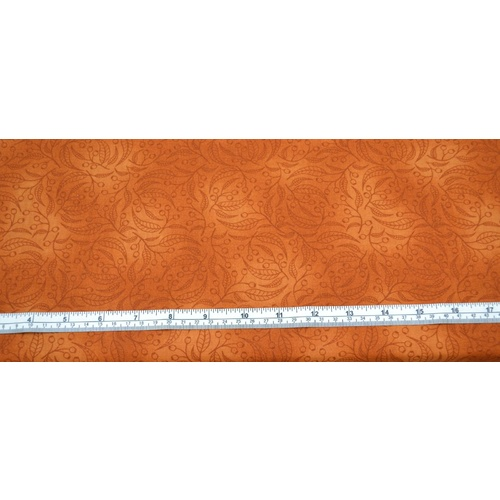 Gumnut Cotton Fabric, AYER ROCK ORANGE, 110cm Wide,  Per Metre