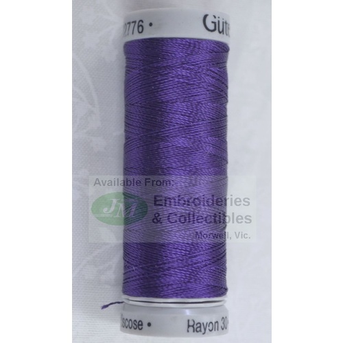 Gutermann SULKY Rayon 30, #1195 DARK PURPLE, 150m Machine Embroidery Thread