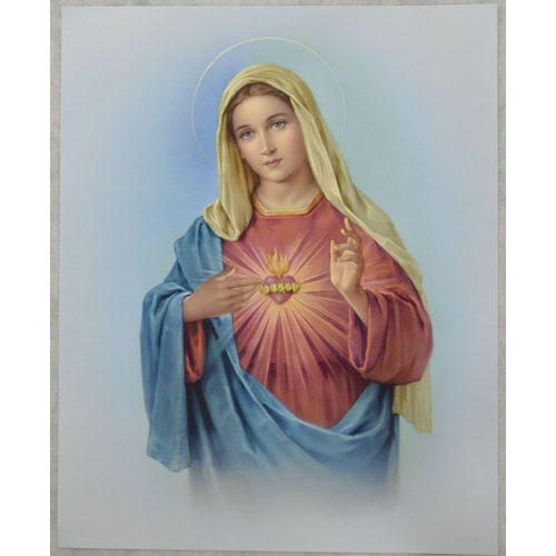 "SACRED HEART OF MARY Religious Print, 10"" x 8"" (200mm x 250mm)"