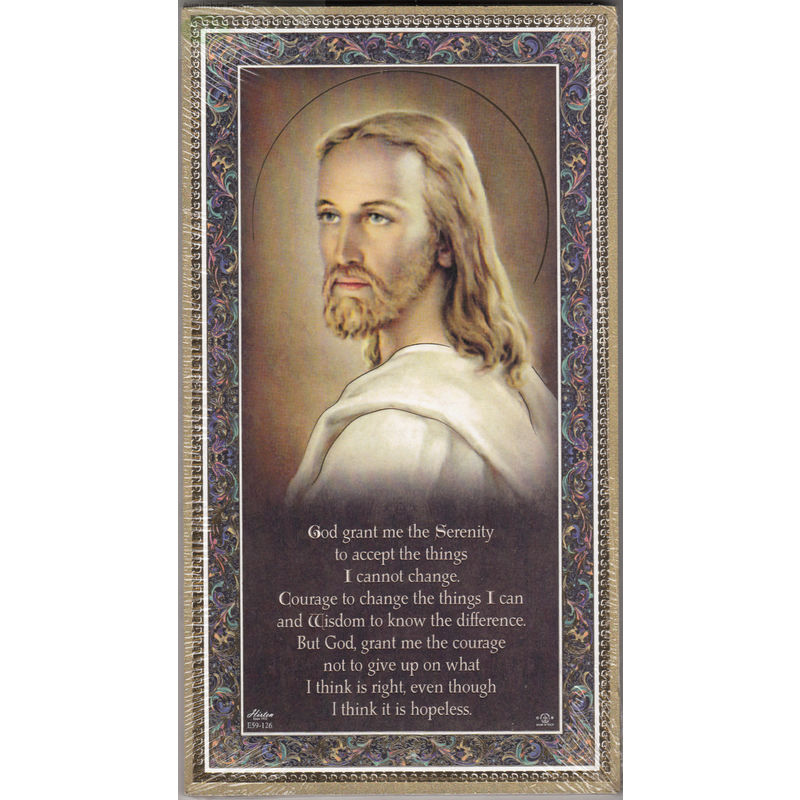 Gold Foiled Wood Prayer Plaque, SERENITY, Crafted In Italy