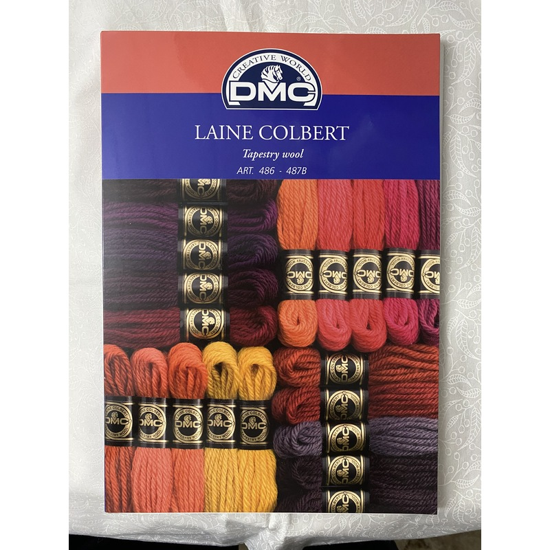 DMC Tapestry Wool Colour Card Actual Wool, Laine Colbert Chart W125A