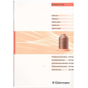 Gutermann Tera Industrial Thread Colour Chart main image